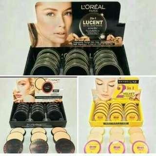 Loreal 2IN1 powder & Mac 2IN1 powder & Maybelline 2IN1 powdee