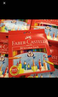 Brand new! Faber Castell 24 Triangle Colour Pencils / cheapest in town! Buy 10 free 1