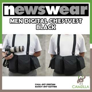 Newswear Mens Digital Chestvest- Black