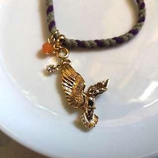 🌾  手鍊 / 腳鍊 / 手繩 / 腳繩 ✨ 鍍金黃銅立體小鳥飾物 🌾