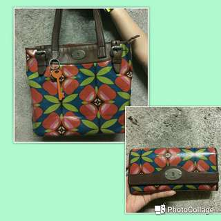 PL Fossil.Keyper set bag+wallet