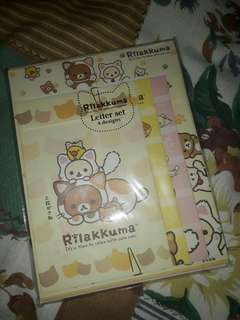 Cute Rillakuma Letter Paper Card Set from Japan