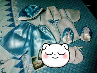 Baptism cloth for baby boy