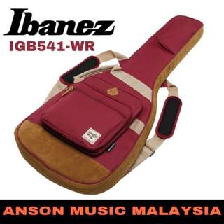 Ibanez IGB541-WR Powerpad Electric Guitar Bag, Wine Red