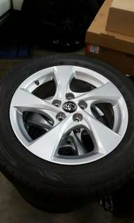 "toyota chr 17""sport rim with tyre .1 set 4pcs"