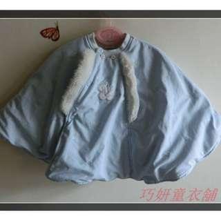 二手GMP BABY藍色鋪棉披風 80CM