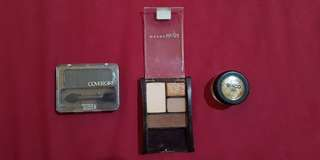 Covergirl and Maybelline Eyeshadow with ACO nail glitter