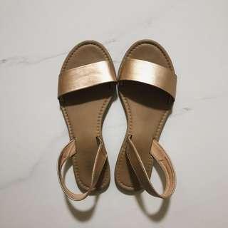 Rubi gold strap sandals