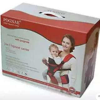 蝕本價出售全新Pognae Baby Hipseat