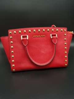 Michael Kors Selma Studded Shoulder bag with handles Saffiano Leather