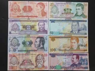 Honduras unc banknotes