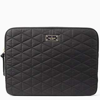 """New Kate Spade Blake Avenue Quilted Laptop Sleeve for 13"""" Laptops (Black)"""