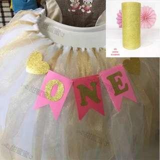 婚禮/派對candy corner金色桌圍紗x2