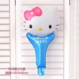 B8 -3 birthday party foil balloon kitty blue handheld