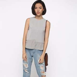 Onila grey Peplum Top