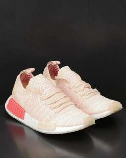 Adidas NMD R1 PK STLT W Womens Linen Pink - Crystal White