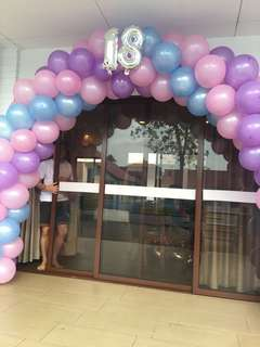 Balloon arch for decoration