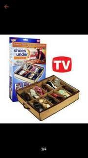 Shoes Under Space saving shoe organizer
