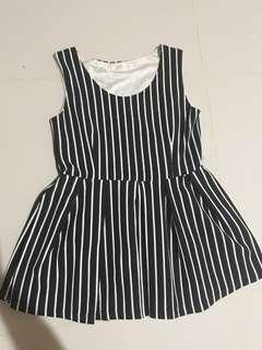Dress black and white stripes