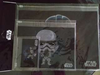 BN Disney Starwars zip pouch set of 3