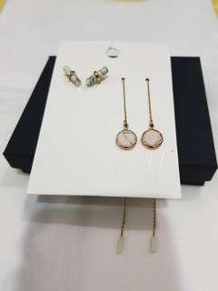 H&M dangling earrings & studs
