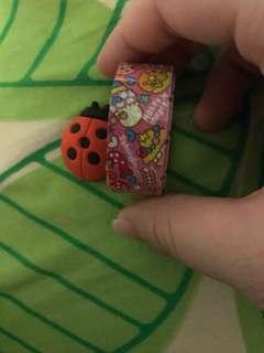 Ladybird easer & food cartoon contape