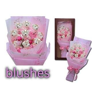 Blushes Bear Bouquet