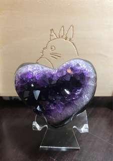 😱睇片就知 從未見過!超閃紫水晶小系愛心 !bling bling 拋光 又完整