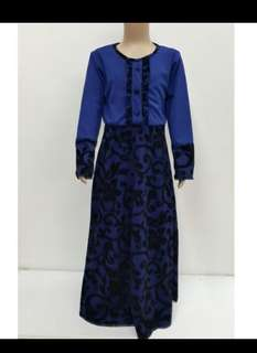 Jubah button kids 5-10y
