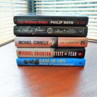Philip Roth / Ian Caldwell & Dustin Thomason / Michael Connelly / Michael Crichton / Perri o'Shaughnessy