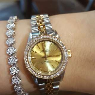 Authentic Rolex Oyster perpetual ladies watch