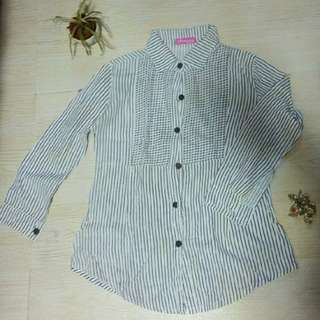 Striped Longsleeves with collar