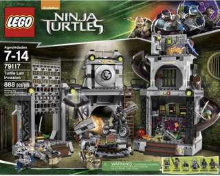 LEGO Ninja Turtles 79117 Turtle Lair Invasion 2014 888 pcs