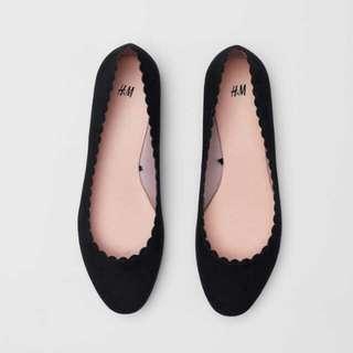 Scallop Edged Ballet Pumps / Flatshoes H&M