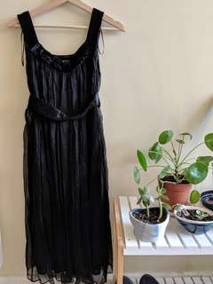 Zara basic XS black chiffon dress