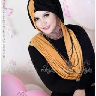 Pasmina ori by nuhijab black mustard