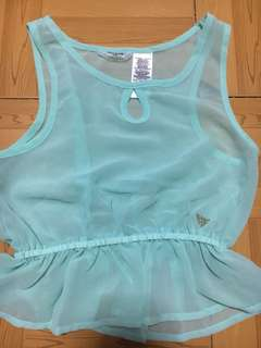 Guess kids sheer top w/out inner