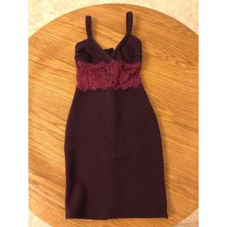 Miss Selfridge Petite Purple Dress