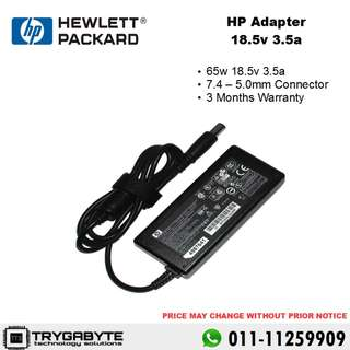 Laptop HP Compaq Adapter 65w 18.5v 3.5a (7.4 - 5.0mm) / Laptop Charger / Laptop Adapter / Pengecas Laptop