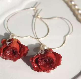 Preserved Flower Earring