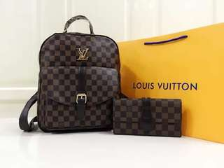 LV BAG PACK WITH WALLET