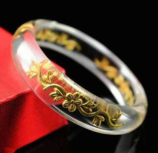 Viral Bracelet of 999 Thin Gold (Flower)