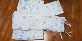 Baby cot bumper and blanket