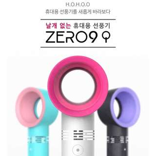 韓國 ZERO 9 便攜式無葉片手持電扇 攜帶式超靜音無扇葉風扇