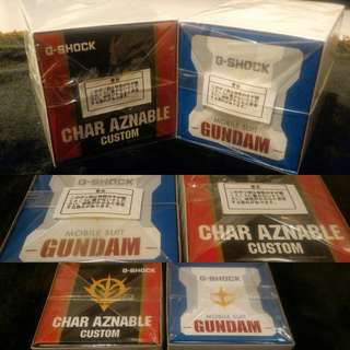 GShock Gundam Mobile Suite & Char Aznable 35th Annivesary Limited Edition