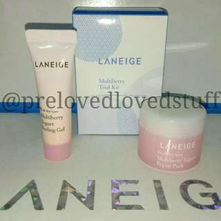 Laneige multiberry trial kit multiberry repair pack yoghurt peeling gel