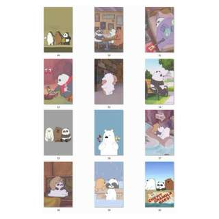 We Bare Bears Ezlink Card Stickers ( D2 )