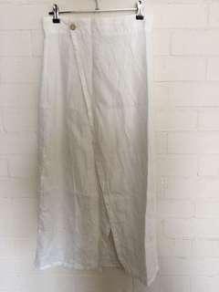 The People Vs Mid length linen wrap skirt