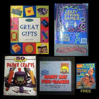 BOOK SELECTION: KIDS CRAFTS, GAMES & GIFTS 50 Nifty Paper Crafts * Crazy String Games * Kidzbiz: Great Gifts *  Rainy Day Fun & Games