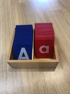Montessori sandpaper letters - capital and small letters